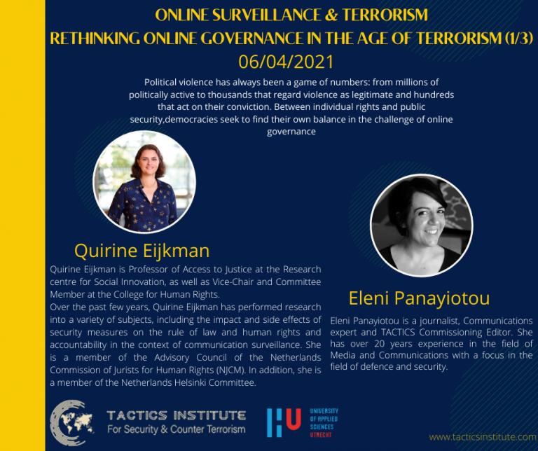 Online Surveillance & Terrorism:  Quirine Eijkman on Rethinking online Governance in the Age of Terrorism
