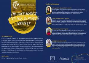 Webinar: Violence Against Civilians in Modern War