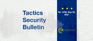 Tactics Security Bulletin